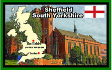 SHEFFIELD, STH YORKSHIRE - SOUVENIR NOVELTY FRIDGE MAGNET  SIGHTS / FLAGS  GIFTS