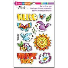 "Stampendous HAPPY BIRDS Perfectly Clear Stamps 4""x6"" SSC1255-NEW! IN STOCK!!"