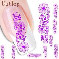 Nail Water Decals Nail Art Transfer Nail Stickers Accessory Elegance Flower