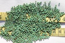 Turquoise Green Travertine 9/0  3-Cut,Czech Glass Loose Seed Beads Crafts/1/2 oz