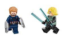 Lego Captain America & Black Widow Mini-Figures from set 76101 (Brand New)