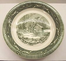 Royal Currier & Ives Pie Baking Dish Old Homestead in Winter EUC