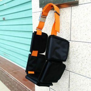 Scuba Diving 5 Pocket Pouch Weight Belt Webbing with Stainless Steel Buckle