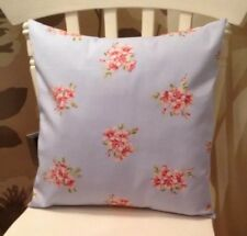 "Clarke and Clarke Shabby Blue Tilly Floral 16"" Cushion Cover"