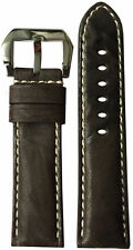 24mm XL RIOS1931 for Panatime D Brown Dis Leather Watch Strap for Panerai 24x22