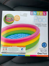 Intex Inflatable Sunset Glow Baby Swim Pool (34 in x 10 in) In Hand SHIPS FAST
