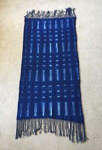 Mudcloth African Textile Wrap, Indigo Shibori