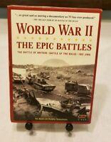 World War II: The 3 Epic Battles, Battle of Britain Bulge Iwo Jima (DVD,2007) VG