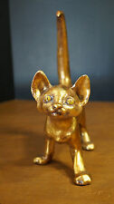 Mid Century Ceramic Gold Leaf Cat Figure Freeman McFarlin Pottery by Anthony
