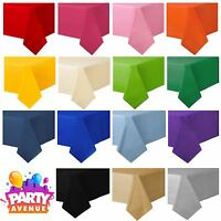 Solid Colour Plastic Table Covers Cloth Party Catering Events Tableware