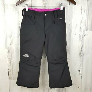 The North Face EZ Grow Insulated Ski Snowboard Pants Girls XS - 6 Black Hot Pink