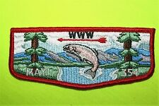 MAYI 354 WWW  - BOY SCOUT FLAP PATCH - B.S.A. ( FISH PATCH )