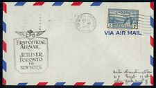 Mayfairstamps CANADA FIRST FLIGHT COVER 1950 COVER TORONTO ONT TO NEW YORK USA w