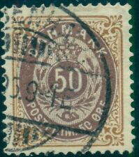 "DENMARK #33v 50ore brown and violet unlisted ""5e"" flaw, used, VF"