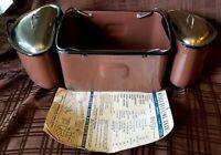 Vintage Brown Enamelware Nesco Roaster Oven Lift Insert Pan Nesting Buffet Book