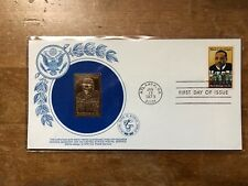 1979  First Day of Issue 15c Cover MLK Jr. I have a Dream W / Gold Replica Stamp