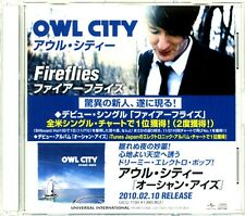 Owl City 'Fireflies' 1-Track JAPAN 2010 Promo CD in Case - Excellent & Rare!