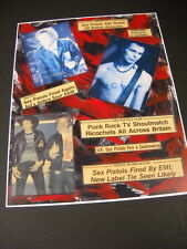 Sex Pistols rare & obscure Vintage Collage Promo Poster Print perfect condition