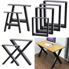 2PCS INDUSTRIAL STEEL TABLE LEGS CABINET CHAIR DESK METAL LEGS SET BlLACK UNITS