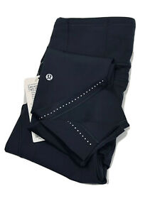 """Lululemon Leggings Fast And Free 7/8 Tight ll Nulux 25"""" (Graphite)    RRP £118"""