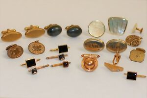 Mix Lot of 81.5 Grams of GOLD FILLED Vintage Engraved Cufflinks 21 Pieces Total