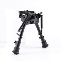 """Rotatable 6""""-9"""" Harris Style Rifle bipod+QD Quick 20mm Rails mount for Hunting"""