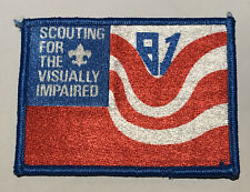 1981 Scouting for the Visually impaired patch Mint MC3