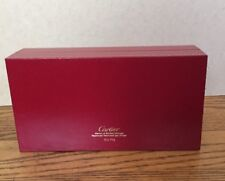 AUTHENTIC CARTIER RED LEATHER GLASSES / SUNGLASSES HARD BOX CASE CO712