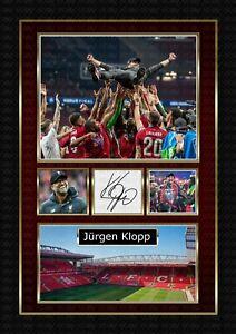 Jürgen Klopp - Liverpool FC -  ORIGINAL A4 Signed PHOTO PRINT MEMORABILIA