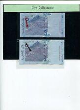MALAYSIA MALAYA  RM 1 AA 99848XX & AAA 62478XX (1 PAIR)  SGB ZETI