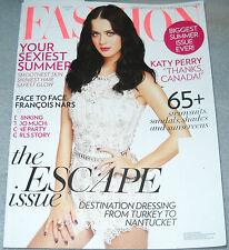Fashion Magazine Summer 2011 Katy Perry Chris Bosh Jillian Vanstone