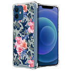 Case For [iPhone 12 / iPhone 12 Pro][Clear Bumper SET16] Clear Floral Slim