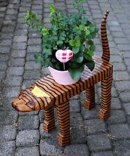 Pflanzenbank Katze Holzständer Blumenständer Blumenbank Holzkatze Dekokatze