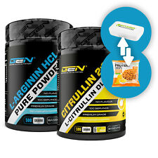 Arginin HCL 500g + L-Citrullin Malat 2:1 500g Pulver Spar-Pack XL Pump + Bonus