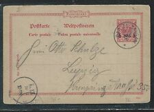 GERMAN EAST AFRICA (P2809B) 5P/10PF PSC FROM DAR ES SALAAM TO GERMANY WITH MSG