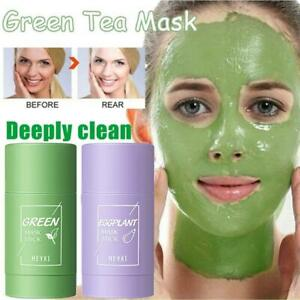 Green Tea Mask Stick Purifying Clay Acne Blackhead Remover Cleaning Oil