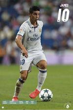 JAMES Rodriguez Real Madrid  SOCCER Poster Season 2016 - 2017 Brand New