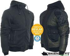 BORES Sweater SAFETY 3 III Hoodie Motorradjacke schwarz Pulli mit Protektoren