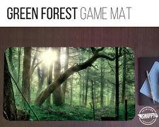 """Green Forest Land Game Mat - 12"""" x 22"""" Neoprene - MTG Magic Card Desk Mat"""