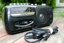 Rare Vintage Hitachi Cassette Tape Recorder W 3 Band Shortwave Mw/Sw/Fm Tested
