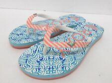 ¡Nuevo! Roxy Bermudas Infantil Chanclas Sandalias en Azul/Naranja Juventud