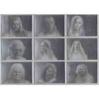 LOTR Lord of The Rings Masterpieces 2 II Silver Foil Art Trading Cards Set of 9