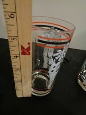 Vintage set of 6 Tumbler Water Drinking Glass 5.5 X 2.5 BRING ON THE CLOWNS NEW