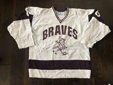 1996 Stall & Dean Braves Hockey Jersey Adult Medium/Large