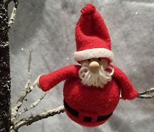 Chubby FELTRO / LEGNO BABBO NATALE Babbo Natale Tree Decorazione Gisela Graham
