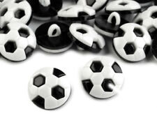 Knöpfe 10 Stück Motivknöpfe Kinderknöpfe Button Fußball schwarz-weiß