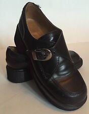 DR. DOC MARTENS Black Leather Women's Buckle Shoes Style# 8496  Sz 6