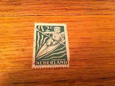 Vintage 2c Voor Het Kind Nederland The Netherlands Little Boy In a Kayak stamp
