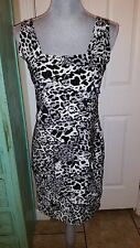 BLUSH, Sleeveless, Stretchy, Body con, Animal Print Dress, Size Medium