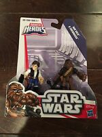 Disney Star Wars Galactic Heroes Figures Han Solo and Chewbacca NEW